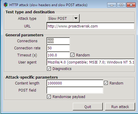 slow http post attack tool